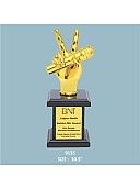 Resin Mike Trophy with wooden Base