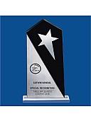 Acrylic Trophy with Metal star