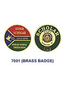 Brass Badge (Round)