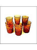 Hi Plus Combo of 6 Handmade Premium Glassware Set for Serving Water, Juice, Soft Drinks, Beverages