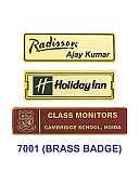Brass Badge (Rectangle)