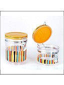 Plastic Multipurpose Storage Container  ( Clear Yellow/Clear Grey)